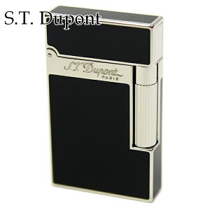 【名入れ】 エス・テ・デュポン エス・ティー・デュポン S.T.Dupont ガスライター ライター 喫煙具 ライン2 モンパルナス ブラック(黒)×シルバー 16296 パラディウム 高級 メンズ 正規品 通販 ブ
