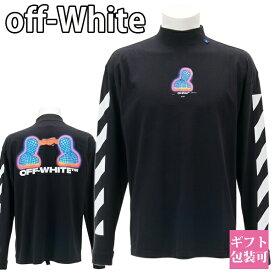 オフホワイト OFF-WHITE シャツ Tシャツ メンズ 長袖 ブラック DIAG THERMO MEN OVER MOCK TEE OMAB032E191850061088 BLACK MULTI プレゼント