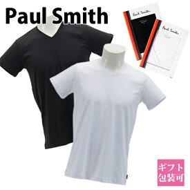 ポールスミス Paul Smith 下着 インナー アンダーウェア メンズ Vネック アンダーシャツ 半袖 ブラック ホワイト 30-1317 V NECK SHORT SLEEVE