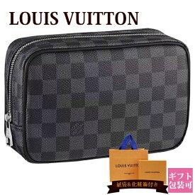 【20日20時〜ポイント最大9倍】ルイヴィトン バッグ 鞄 かばん LOUIS VUITTON 新品 メンズ トラベルポーチ トゥルース・トワレ PM ダミエ・グラフィット N47522 ギフト