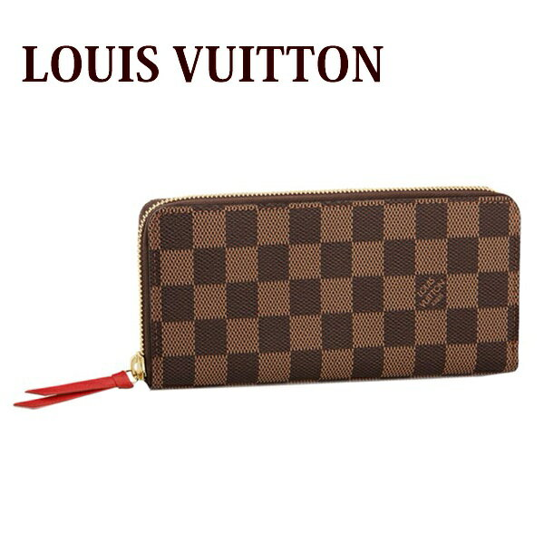 送料無料 新品 新作 ルイヴィトン Louis Vuitton 財布 長財布 レディース ラウンドファスナー ポルトフォイユ・クレマンス ダミエ N60534 正規品 セール ホワイトデー お返し 入学祝い 2018 ブランド品