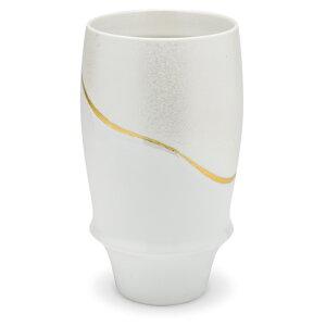 ビールグラス ビアグラス 陶器 有田焼 ビールグラス 有田焼 おしゃれ ワイングラス ワイン 和食器 客用 和モダン 白磁 白 金 日本製 贈り物 ギフト プレゼント 引き出物 新築祝い 引越祝い お