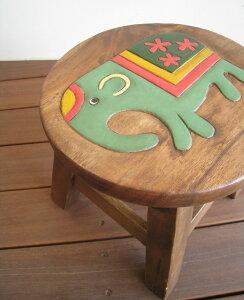 スツール キッズチェア 木製 子供用椅子 楽天 ベビーチェア 子供イス アカシア無垢 ぞうさん ゾウ 象 子ども椅子 子供いす 無垢 花台 台 踏み台 おすすめ 人気 天然木 レトロ かわいい プレゼ