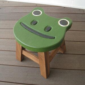 スツール キッズチェア 木製 子供用椅子 アカシア無垢 楽天 ベビーチェア 子供イス カエル かえる 蛙 子ども椅子 子供いす 無垢 花台 台 踏み台 おすすめ 人気 天然木 レトロ かわいい プレゼ