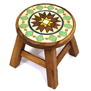 スツール キッズチェア 木製 アカシア無垢 子供用椅子 楽天 ベビーチェア 子供イス アジアン雑貨 子ども椅子 子供いす 無垢 花台 台 踏み台 おすすめ 人気 アカシア レトロ かわいい プレゼ