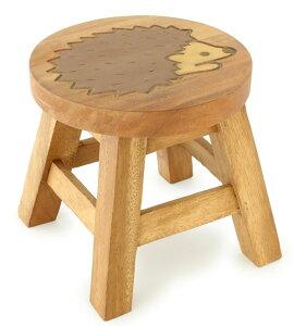 スツール キッズチェア 木製 子供用椅子 アカシア無垢 楽天 ベビーチェア 子供イス アニマル柄 動物 ハリネズミ おしゃれ 子ども椅子 子供いす 無垢 花台 台 踏み台 おすすめ 人気 天然木 レ