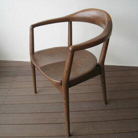 ダイニングチェア 椅子 チェア イス 木製イス 無垢 ナラ ナラ無垢 日本製 国産家具 アンティーク 肘付き 肘掛け アームチェア おしゃれ IKEA 木製椅子 天然木 【送料無料】Rainナラ無垢 アームチェア