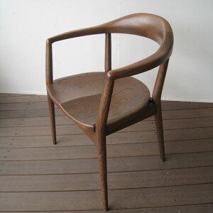 ダイニングチェア 椅子 チェア イス 木製イス 無垢 ナラ ナラ無垢 日本製 国産家具 アンティーク 肘付き 肘掛け アームチェア おしゃれ IKEA 木製椅子 天然木 【送料無料】Rainナラ無垢 アーム