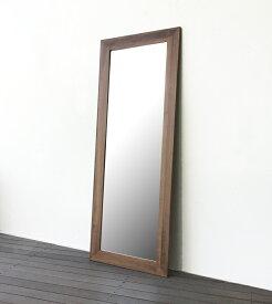 鏡 ミラー 大型ミラー 日本製 ウォールナット無垢 スタンドミラー 木製フレーム おしゃれ かっこいい 全身 姿見 全身鏡 立て掛けミラー 壁掛け 大型姿見 ビッグミラー 美容院 美容室 店舗用 高さ180cm 【送料無料】ウォールナット立て掛けミラー