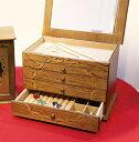 ジュエリケース ジュエリーボックス おしゃれ 木製 日本製 格子 アンティーク 大容量 カントリー アクセサリー入れ ミ…