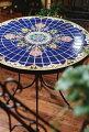 ガーデンテーブルモザイクテーブル送料無料おしゃれガーデニング用品スペインブルータイルアイアンタイルモザイクタイル【送料無料】MosaicテーブルBlueRanaL