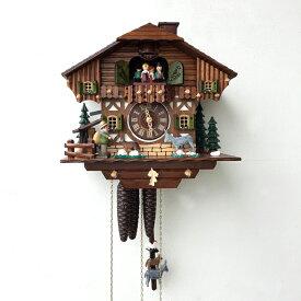 カッコー時計 鳩時計 仕掛け時計 ドイツ製 掛時計 からくり時計 アンティークおしゃれ レトロ ブレーメンの音楽隊 振子時計 ぜんまい 1日タイプ【送料無料】からくり時計/ブレーメンの音楽隊(1日タイプ)