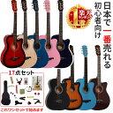【セット追加】ギター 初心者 アコギ 楽器 入門 アコースティックギター フォックギター タイプ F-301M 送料無料 人気…