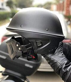 バイクヘルメット おすすめアメリカン おしゃれジェットヘルメット SG品PSC規格 全排気量 マット ブラック フルフェイスマスク付け シードル かっこいい 人気 AORTD