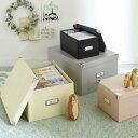 収納ボックス マジックボックス L  (hocola)( フタ付き おしゃれ 折りたたみ 収納box かご 紙 クラフト 収納ケース A4 雑誌 本 収納 )