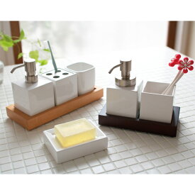 【特別価格】 北欧調ホワイトキューブ洗面小物ENB トレーS (hocola)