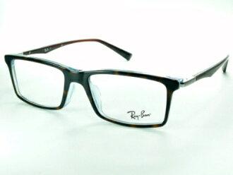 """廣場·樣式""""細長在夏普""""并且企業類型/棕色·戴米Ray-Ban雷斑眼鏡架子RX5269F-5023"""