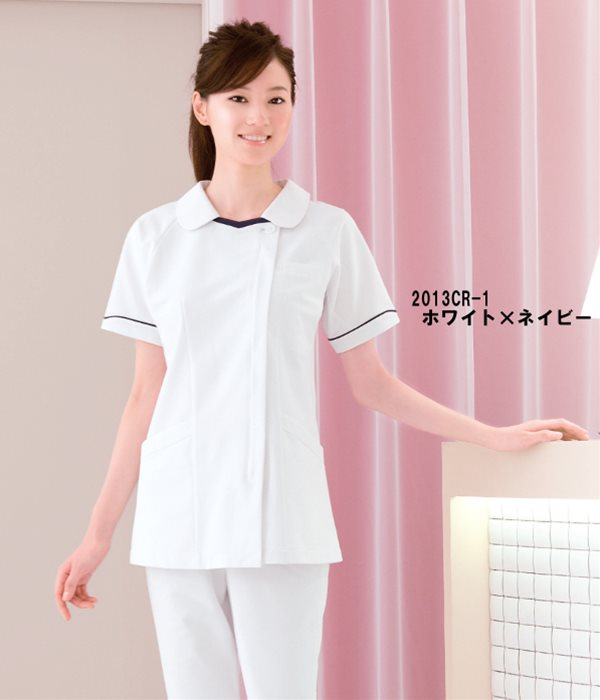 医療用白衣 メディカルウェアチュニック 2013CR (S〜4L)メディカルウェアフォーク (FOLK) お取寄せ