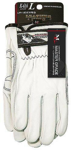 おたふく手袋 牛革クレスト手袋 アテ付 レザーキング 10個セット K-414 サイズ:M・L 作業服・作業着・作業用品・手袋 お取寄せ