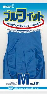 ショーワグローブ ブルーフィット 10個セット showa-181 作業服・作業着・作業用品・手袋 お取寄せ
