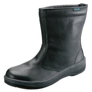 安全靴 作業靴 ECO44 黒 (23.5〜28.0cm) エコエースシリーズ 半長靴 セフティシューズ シモン(Simon) お取寄せ 【返品交換不可】