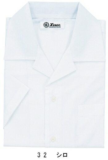 ビジネスウェア ワイシャツ 半袖開襟シャツ 15030(S〜5L) ジーベック(XEBEC) お取寄せ