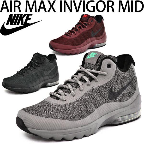 ナイキ メンズシューズ 靴 ミッドカット スニーカー NIKE AIR MAX INVIGOR MID エア マックス インビガーミッド 撥水 男性 くつ/858654