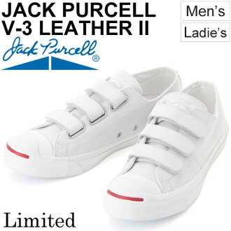 Sneakers Jack Pursel converse men gap Dis JACK PURCELL V-3 LEATHER II-limited model leather nature leather low-frequency cut Velcro unisex white white 1CK772 regular article /JackP-V3-LEATHER