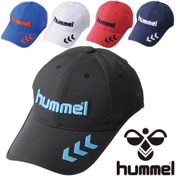 キャップ 帽子 メンズ/ヒュンメル Hummel ベーシックキャップ サッカー フットボール アクセサリー 日差し対策 UVカット 紫外線対策 吸汗速乾 スポーツキャップ /HFA4062【取寄せ】