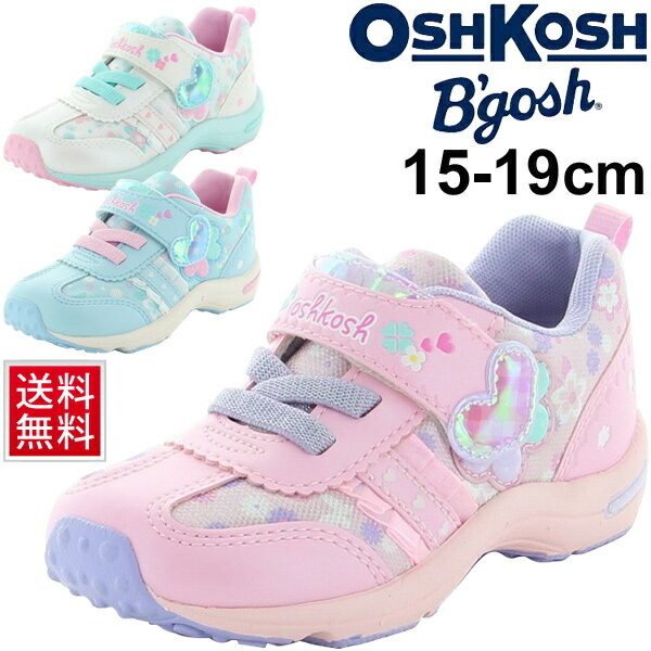 キッズシューズ 女の子 子ども ムーンスター OSHKOSH オシュコシュ スニーカー 女児 ガールズ 15.0-19.0cm 子供靴 通園通学 運動靴 ベルクロ カジュアルシューズ /OSK-C432