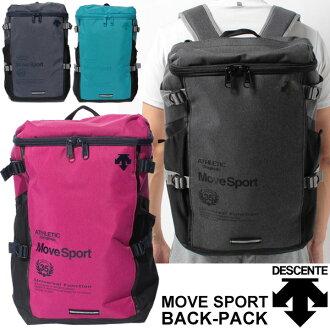 Descente背包Descente MoveSports杢廣場型帆布背包運動包DAC8724人男女兩用包上學俱樂部活動比賽移動通勤/DAC-8724
