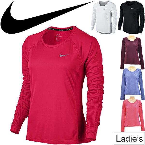 Tシャツ 長袖 レディース ナイキ NIKE ウィメンズ DRI−FIT マイラー トップ 長そで ワンポイント 長T 女性 ランニング フィットネス スポーツ ウェア /831541