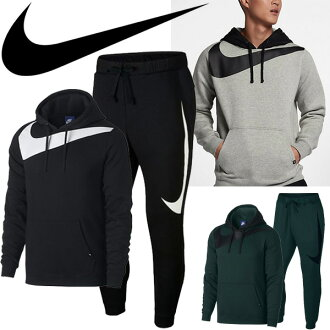 f44dc4befd Sweat shirt top and bottom set men   Nike NIKE ハイブリッドプルオーバーフーディトレーナーパーカーパンツ  back raised male big logo training casual sportswear ...