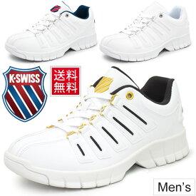 スニーカー メンズ ケースイス K・SWISS シューズ 厚底タイプ エバー 復刻モデル 男性 靴 白 ホワイト カジュアルシューズ/KSL02