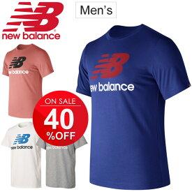 Tシャツ 半袖 メンズ ニューバランス newbalance ロゴT プリントT 男性用 トレーニング ランニング ジョギング ジム スポーツカジュアル トップス/AMT73587