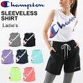 ノースリーブシャツレディースChampionチャンピオンCVAPORアクティブスタイルスポーツウェアフィットネストレーニング女性用ビッグロゴ袖なしTシャツ/CW-PS301