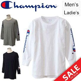 Tシャツ 長袖 メンズ レディース チャンピオン champion CAMPUS キャンパス L/S Tee スポーツ カジュアル ウェア ロゴ カレッジテイスト アメカジ 長袖シャツ ロンT トップス ユニセックス/C3-N413