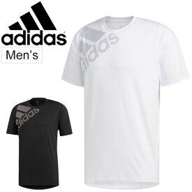 Tシャツ 半袖 メンズ アディダス adidas M4T フリーリフト ビッグロゴTシャツ スポーツウェア トレーニング 男性 クルーネック 半袖シャツ カジュアル 普段着 トップス/FSF86