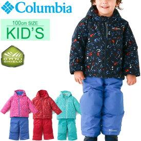 キッズ ベビー スノーウェア ジャケット カバーオール 2点セット 男の子 女の子 子ども コロンビア Columbia フロスティスロープセット 子供服 3T 100cm 中綿 裏フリース 防寒着 雪あそび 冬 アウトドア レジャー かわいい セットアップ/SC1092-