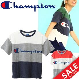 Tシャツ 半袖 レディース/Champion アクティブスタイル チャンピオン 女性 スポーティ カジュアル ロゴ アメカジ カットソー トップス 半袖シャツ スポーツウェア/CW-MS326