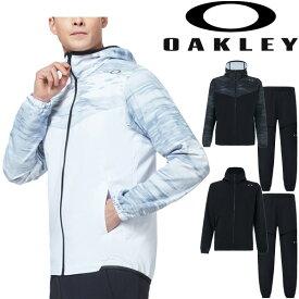 ウィンドブレーカー 上下セット メンズ オークリー OAKLEY Enhance Mobility ウーブン ジャケット ロングパンツ 上下組/スポーツウェア 男性 トレーニング フィットネス セットアップ/FOA400805-FOA400823