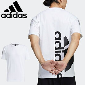 半袖 Tシャツ メンズ アディダス adidas M BOSC HALF LOGO TEE/スポーツウェア トレーニング 白 ホワイト バックプリント クルーネック 男性 シンプル 普段使い トップス 自宅トレ/JKL47-GN0781