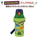 水筒 食洗機対応 ワンタッチボトル ディノサウルス 480ML グリーン かわいい 直飲み水筒 幼稚園 園児 幼児 男子 子供 恐竜 ダイナソー キッズ 男の子 子供用水筒