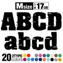 【アルファベット ステッカー】【エンブレム】【Mサイズ】1文字 alphabet ABC A〜Z 英語 大文字 イニシャル ミリタリ…