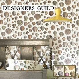 【壁紙】【のり無し】輸入壁紙 様々な貝柄が印象的 DESIGNERS GUILD*PJD6000-02 PJD6000-01__tc-