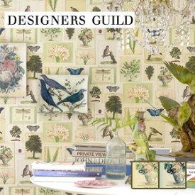 【壁紙】【のり無し】輸入壁紙 デザイン画を飾り付けたようなデザイン DESIGNERS GUILD*PJD6001-01 PJD6001-02__tc-