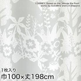 【カーテン】ディズニーファン必見!スミノエ Disney レースカーテン POOH/ In the wood(インザウッド) 巾100×丈198cm__m-1162-l