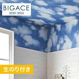 【壁紙】【のり付き壁紙】シンコール BIGACE 雲柄調 BA5386__ba5386