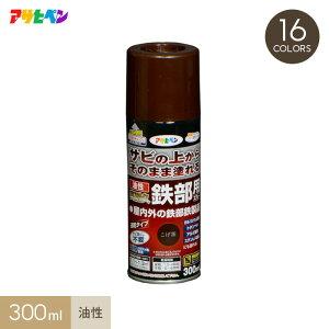 【塗料】サビの上からそのまま塗れる油性高耐久鉄部用スプレータイプ 300ml*SW SMW SCG SG SR SY SRGR SGR SBU SBL STB__ap-ykt300