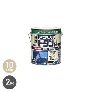 【塗料】さびに強く、色ツヤを長持ちさせる高性能アクリル樹脂ペンキ!アクリルトタンN屋根用 2kg*BLC CGC RC RS BR G SO BU NK BL__np-atn-200